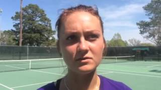 Polina Mutel on her decisive No. 3 singles win