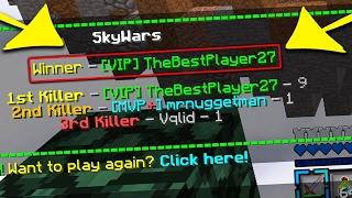 The BEST SKYWARS PLAYER EVER!.... (Minecraft)