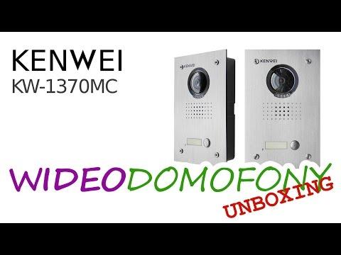 Wideodomofon KENWEI 1370 MC / EMC - Odpakowanie Unboxing - Video Door Phone