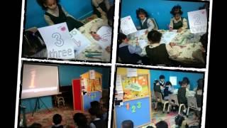 الروضة الاولى تفعيل البرنامج الصباحي ضمن مشروع ( من حقي ألعب وأتعلم وأبتكر) تعليم اللغة الانجليزية