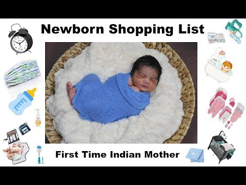 Complete Newborn shopping List For Indian Family/Indian Mother