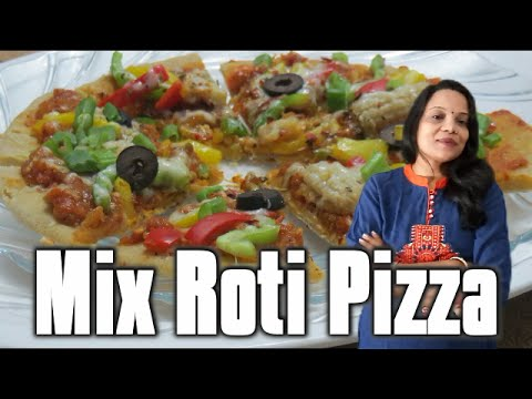 Mix Roti Pizza ( in Hindi with English subs) | How to make homemade Roti Pizza