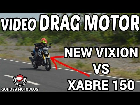 Adu Drag Motor Yamaha New Vixion VS Yamaha Xabre 150 Terbaru 2016