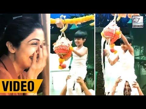 Xxx Mp4 Shilpa Shetty S Son Viaan Breaks Dahi Handi During Janmashtami Celebrations LehrenTV 3gp Sex