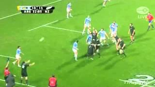 All Blacks vs Argentina Lineout move