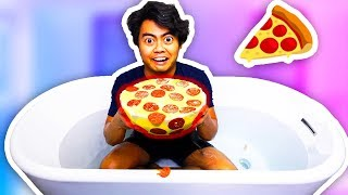 DIY Giant Bath Bomb Made Out Of PIZZA!