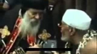 الشيخ الشعراوى يعطى درس لشنوده المتعصب  فيديو نادر جدا
