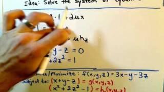 Lagrange Multipliers - Two Constraints