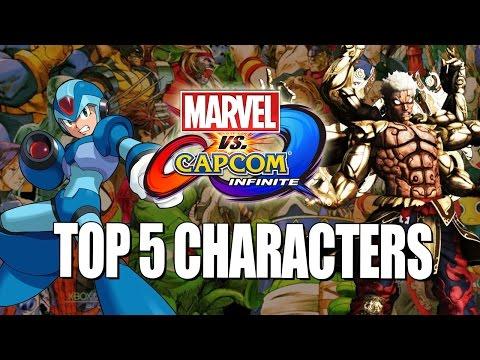 TOP 5 NEW CAPCOM CHARACTERS Marvel Vs. Capcom Infinite Wishlist
