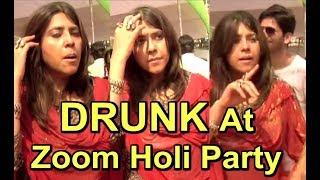 Ekta kapoor Embarassing Moments CAUGHT At Zoom Holi Party 2018