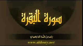 سورة البقرة كاملة ياسر الدوسري - sourat al baqara yasser dossari
