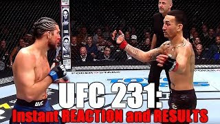 UFC 231: Results and Reaction