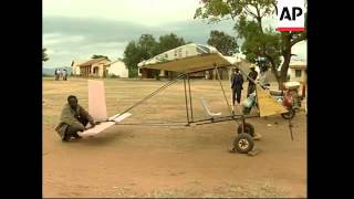 Student builds plane out of scrap in pursuit of his dream to fly