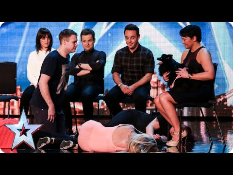 Whatever you do DON T look into Hypnodog s eyes Britain s Got Talent 2015