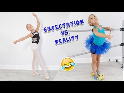 Expectation vs. Reality First Day of Dance School EVER Lilly K Funny