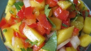 Tropical MANGO SALSA - How to make fresh TROPICAL MANGO SALSA recipe