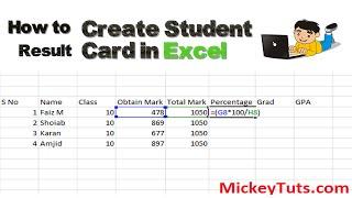 How to Create Student Result Sheet in Microsoft Excel   Urdu/Hindi Tutorial