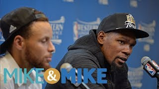 Durant Tops Curry As Favorite For NBA Finals MVP | Mike & Mike | ESPN
