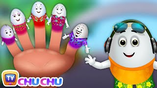 Egg Finger Family Song | Surprise Eggs Nursery Rhymes | Fun Hawaii Water Games For Kids | ChuChu TV