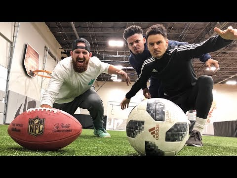Football vs Soccer Trick Shots Dude Perfect
