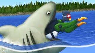 GIANT SHARK EATS A SCUBA DIVER - Tasty Planet Forever Part 7 | Pungence