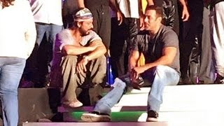 Salman Shahrukh Before Rehearsing For TOIFA Awards 2016 Performance