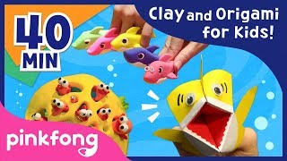 Clay Baby Shark and more | Clay | Origami | DIY Craft | Pinkfong Songs for Children