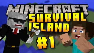 Minecraft PS4 - Survival Island - Part 1 - Flying Skeleton! ( Island Survival on Minecraft PS4 )