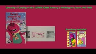 Barney's Waiting for Santa EXTREMELY RARE 1995 VHS Opening & Closing
