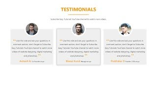 How To Make Website Testimonials Section Using HTML CSS And Bootstrap