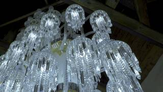 Bohemian Crystal Chandelier ROYAL by ALDIT, 6.5m long AMAZING! (how it's made)