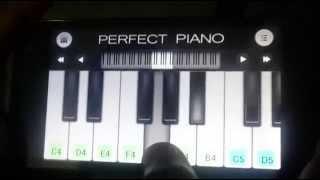 Teri Meri (Bodyguard) Simple mobile piano tutorial