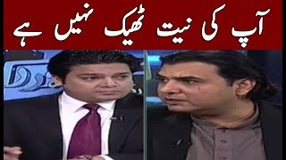 Fight in Live Show Between Mustafa Nawaz And Freed Raees