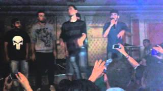 حفلة البصمة العربية في حلب الشهبا روز hazyman rap + mr jee