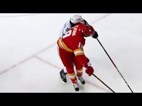 Tkachuk with a vicious elbow to the face of Doughty