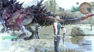 FINAL FANTASY XV - Bandersnatch Boss Fight l Level 10 Vs. Level 38 Boss