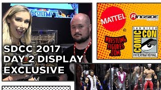 WWE SDCC 2017 - DAY 2 Figure Display! - NEW Wrestling Figures San Diego Comic Con