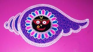 Jagannath Face with rangoli | Kartika Purnima | Art with Creativity 303