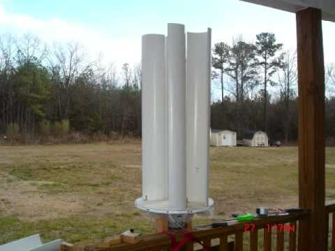 How I made my first pvc wind turbine