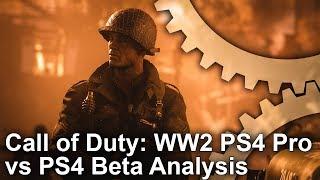 [4K] Call of Duty WW2 Beta: PS4 Pro vs PS4 Analysis
