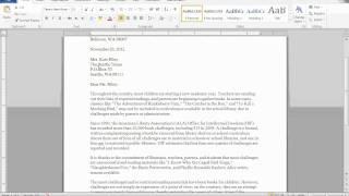 Block Format Letter