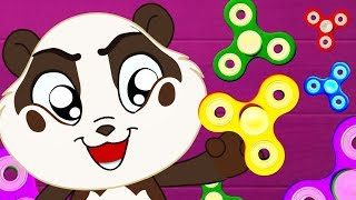 Fidget Spinner Fun with Nursery Rhymes Color Song to Learn Colors for Kids - Panda Bo