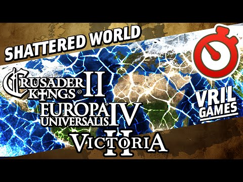CK2 to EU4 to V2 | Shattered World | Mega Campaign 769 AD to 1936 AD Timelapse