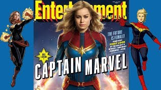 Brie Larson as Captain Marvel First Look From Entertainment Weekly