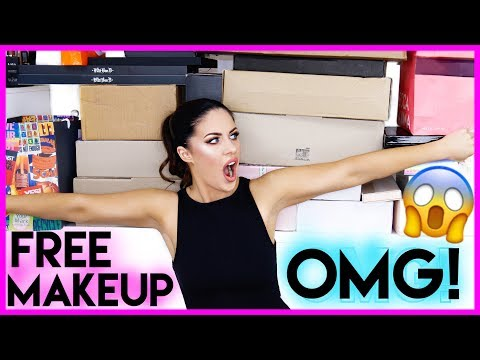 UNBOXING PR PACKAGES!! | FREE STUFF BEAUTY GURUS GET!!! + HUGE MAKEUP GIVEAWAY!!!