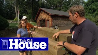 How to Build a Timber Retaining Wall - This Old House