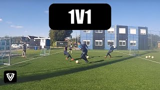 1v1 drill football / soccer drill + first touch - Duel 1 tegen 1 - Thomas Vlaminck Techniektraining