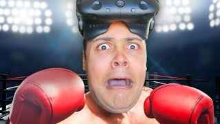 BOXING IN VIRTUAL REALITY !!! (HTC Vive Boxing - Thrill Of The Fight)