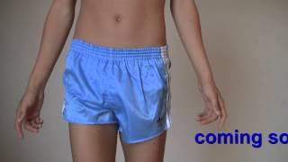 Shiny shorts cute twink adidas Glanzshorts