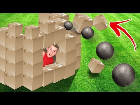 Knock Down the Box Fort Battle